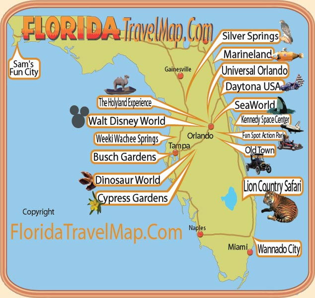 Florida Travel Map – Florida Travel Map